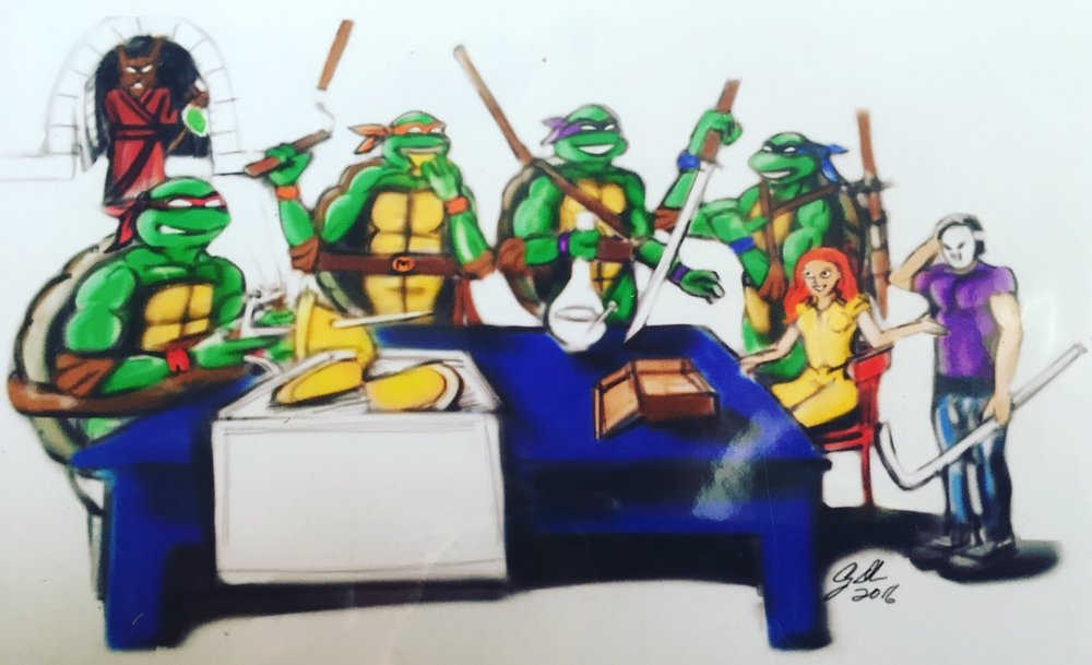 Just couldn't resist buying this one of TMNT! Who knew Master Splinter was holding the whole time!?