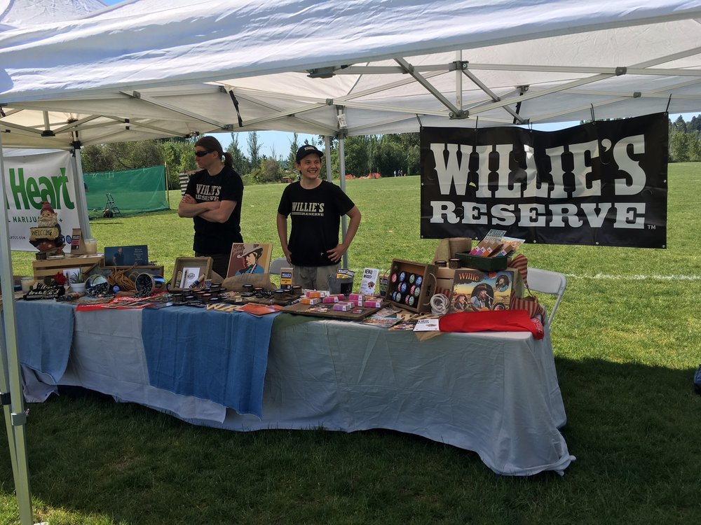 Willie's Reserve was representing one of the most famous brands in the industry! From accessories, to edibles, to flower, to vape, they've got everything! More info here.