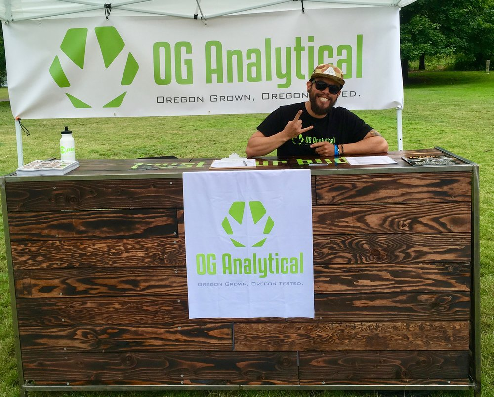 We got to meet OG Analytical holding it down! OG Analytical specializes in comprehensive cannabis testing services, helping dispensaries, growers, producers, and consumers alike ensure the safety and quality of cannabis and cannabis related products in Oregon.