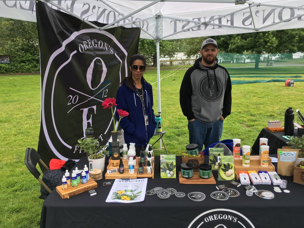 Oregon's Finest had an awesome booth set up and we're showcasing some of their amazing bud below!