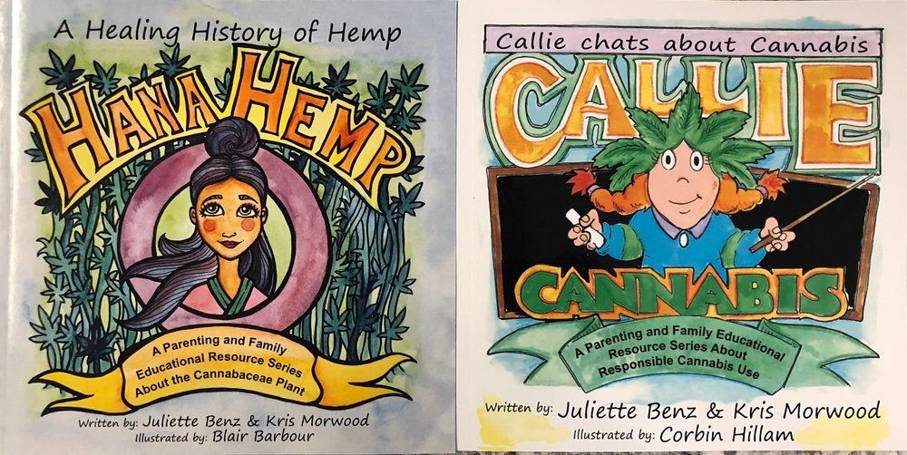 Two lucky winners went home with a copy of Hana Hemp and Callie Cannabis, written by Juliette Benz and Kris Morwood!