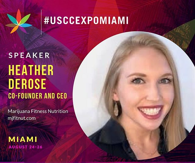 Join us in Miami in less than two weeks for Florida's largest cannabis event of the year where @mjfitnut's CEO, @heatherderoseofficial, will be speaking at the @usccexpo about her use of cannabis to manage her epilepsy and staying active as an athlete! . . . . . #florida #lovefl #strongwomen #womenshealth #epilepsy #floridalife #miamibeach #roamflorida #southflorida #pureflorida #sunshinestate #visitflorida #southbeach #fl #miamilife #soflo #fitness #athlete #sports #health #wellness #personaltrainer #cannabis #weed #marijuana #cannabiscommunity #cannabisculture #speaker
