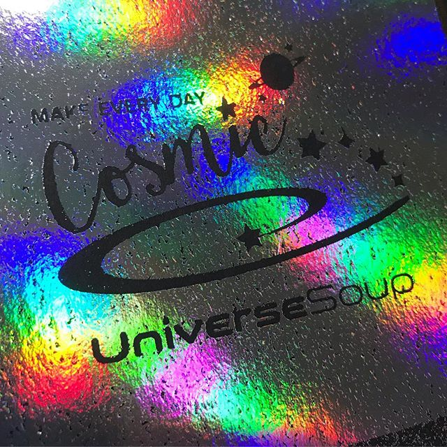 ✨I attempted to holo foil my logo, but the bowl vanished ;) ✨