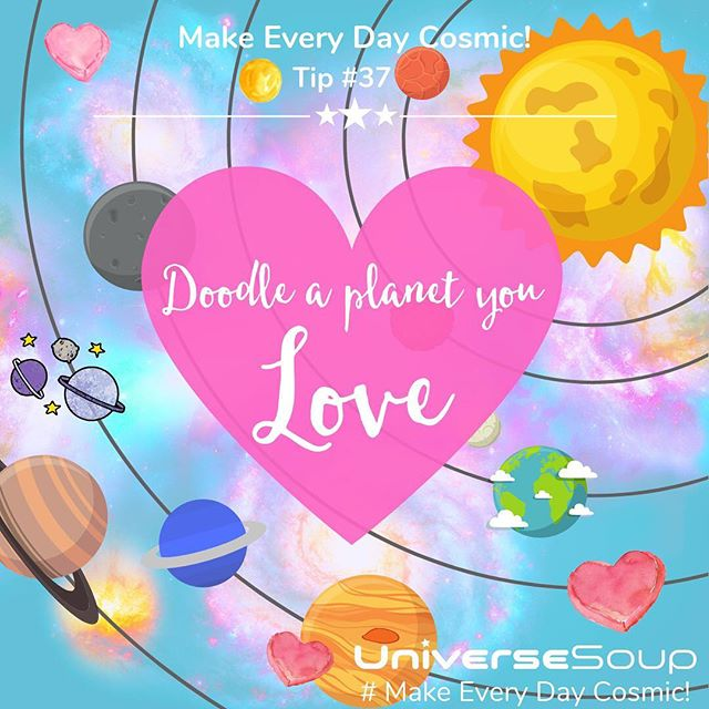 ★ #MakeEveryDayCosmic 🌜Tip 37: I Love Space! Doodle a Planet You Love✨ . ★ Since it's Valentine's Day week, let's show our favorite planets some love! . 🌜  It's no secret that I love all things space and sci-fi. I do have a favorite planet - it's the Earth, of course, I live here. Well, most of the time anyhow ;) My second favorite planet has to be Neptune. That incredible deep, glowy, blue set against those white clouds - ridiculously beautiful! So, yeah I'll be doodling Neptune today. I may even make my doodle into a cute sticker for my journal! . 🌜 What's your favorite planet? Take some time and doodle it :) If you post it, use #MakeEveryDayCosmic. I'd love to see your artwork! . . . . ★ Today's post is part of my new #MakeEveryDayCosmic Instagram series on how to bring the magic of outer space into your life! Best, Laura from Universe Soup https://www.instagram.com/laurawoodmansee . #MakeEveryDayCosmic #UniverseSoup #cosmic #space #Moon #NewMoon #scifi #magic #outerspacemagic #magicofouterspace #dreams #doodle #neptune #planet #stickers #journal #bujo #journaling #spacestickers #blue #ilovespace