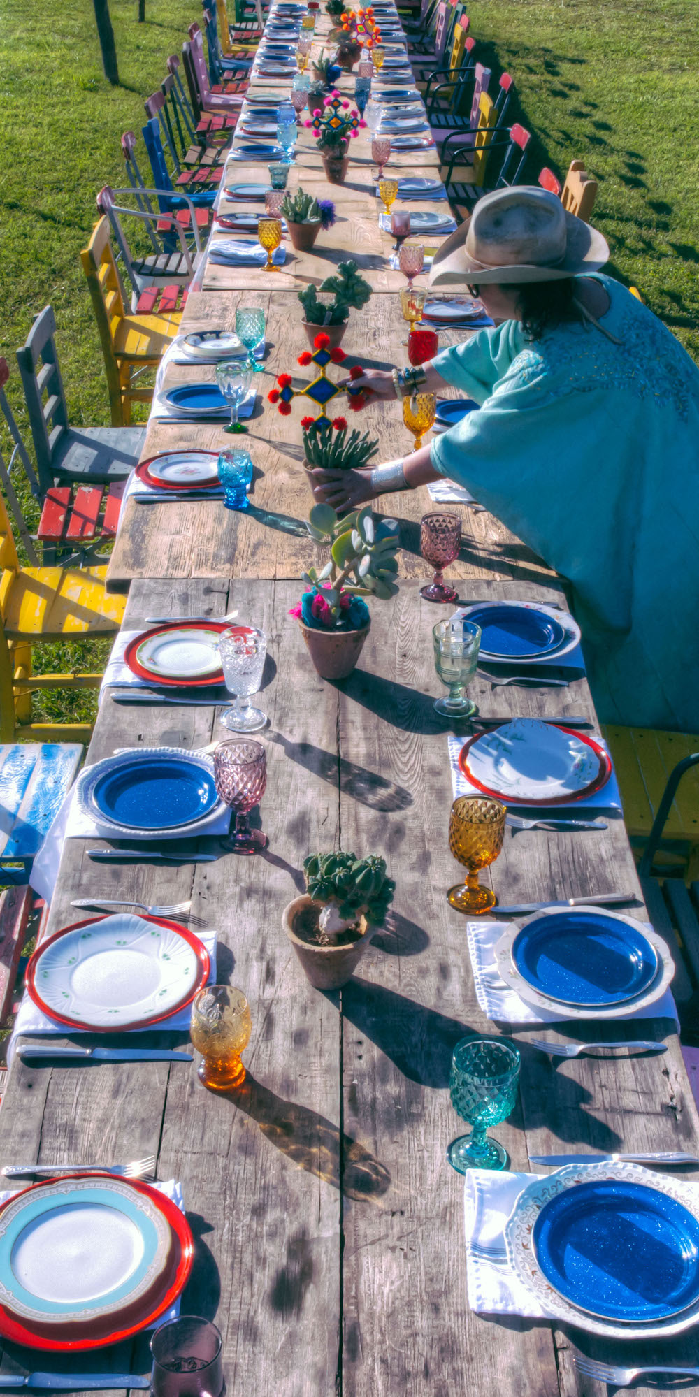 Feast in the Field-Sheila Youngblood sets table-Michael Lucas Photography.jpg