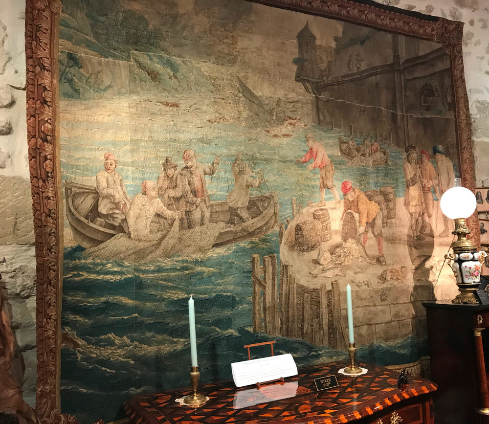 17th century tapestry in silk and wool from Flanders. Photo courtesy of Provenance Antiques