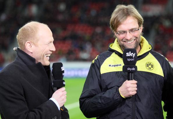 Matthias Sammer med Jürgen Klopp i Dortmund-tiden. Foto: Getty Images/Christof Koepsel