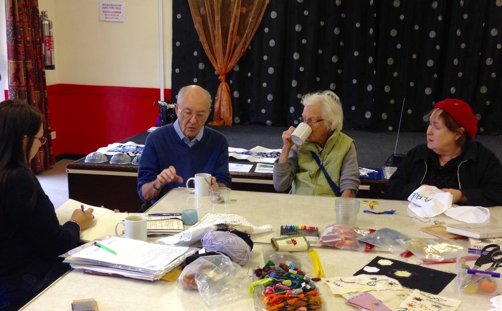 Mattishall residents with artist Lisa Little