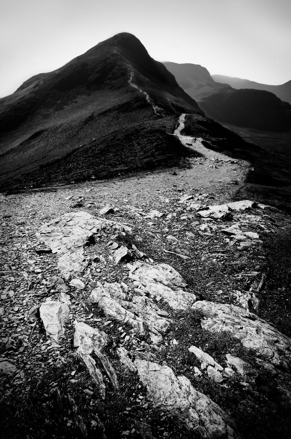 Cat Bells - a favourite location brought to life with black and white on this image.