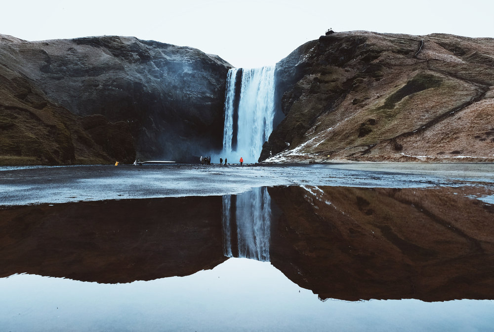Skogafoss Refelction