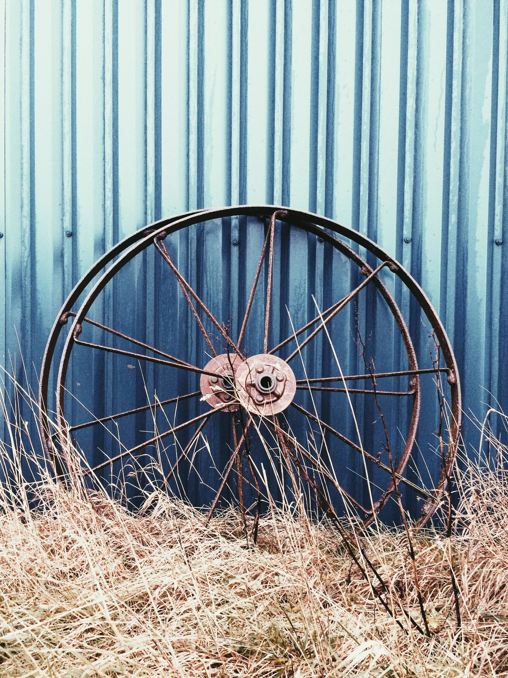 Old Trailer Metal Wheels