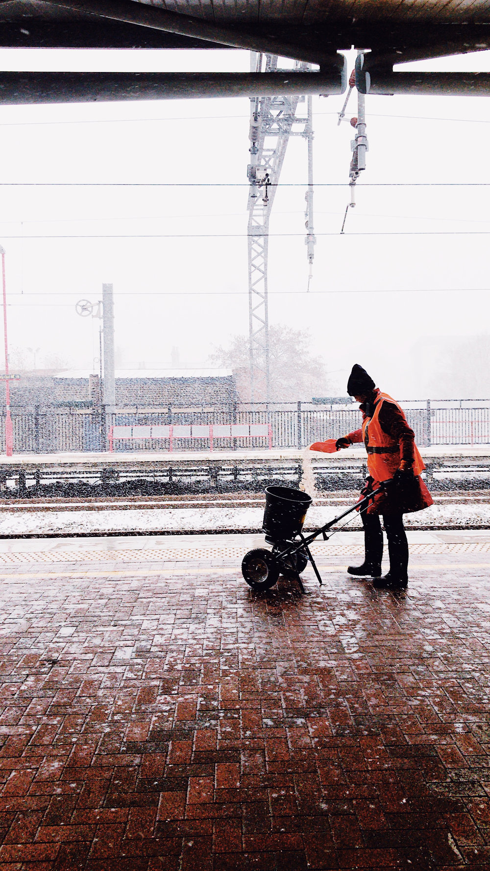 Gritting The Platform