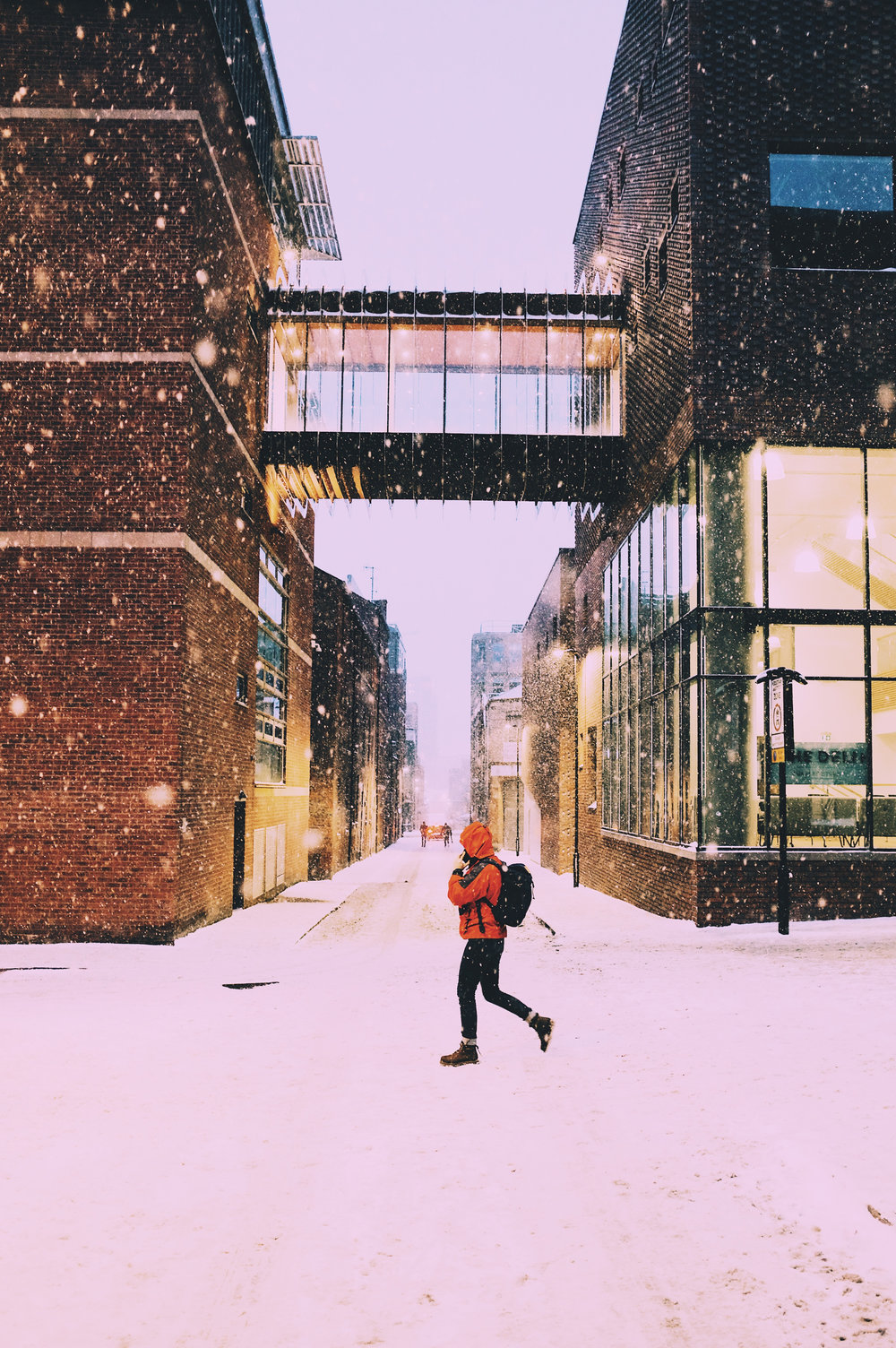 Snowy Back Streets