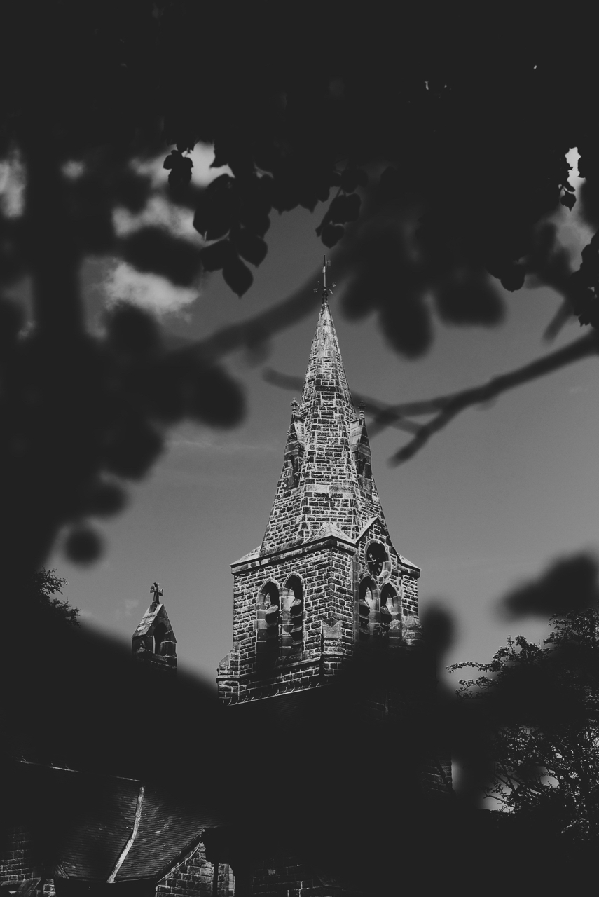 Edale Church in Black and White
