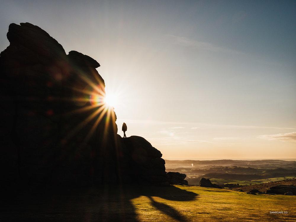 Standing On Haytor Rocks