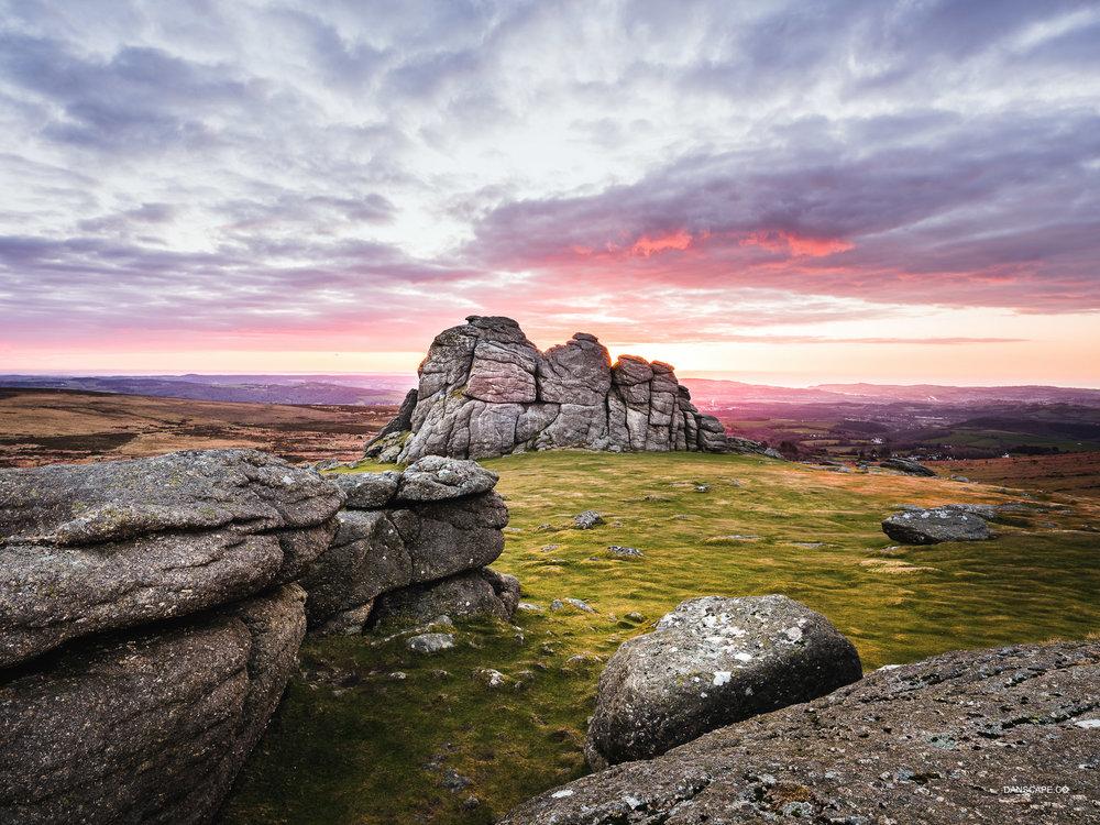 Haytor Rocks At Sunrise