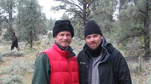 Blue, Brendan and Bigfoot. On location in the Angeles National Forest, CA, 200...3(?)