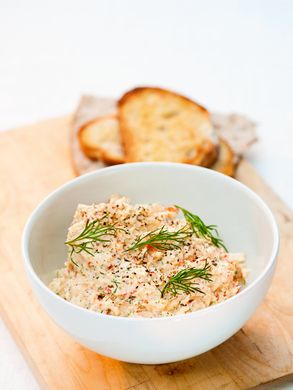 Cheese, crayfish and cumin appetizer - Photo: Jakob Fridholm / imagebank.sweden.se
