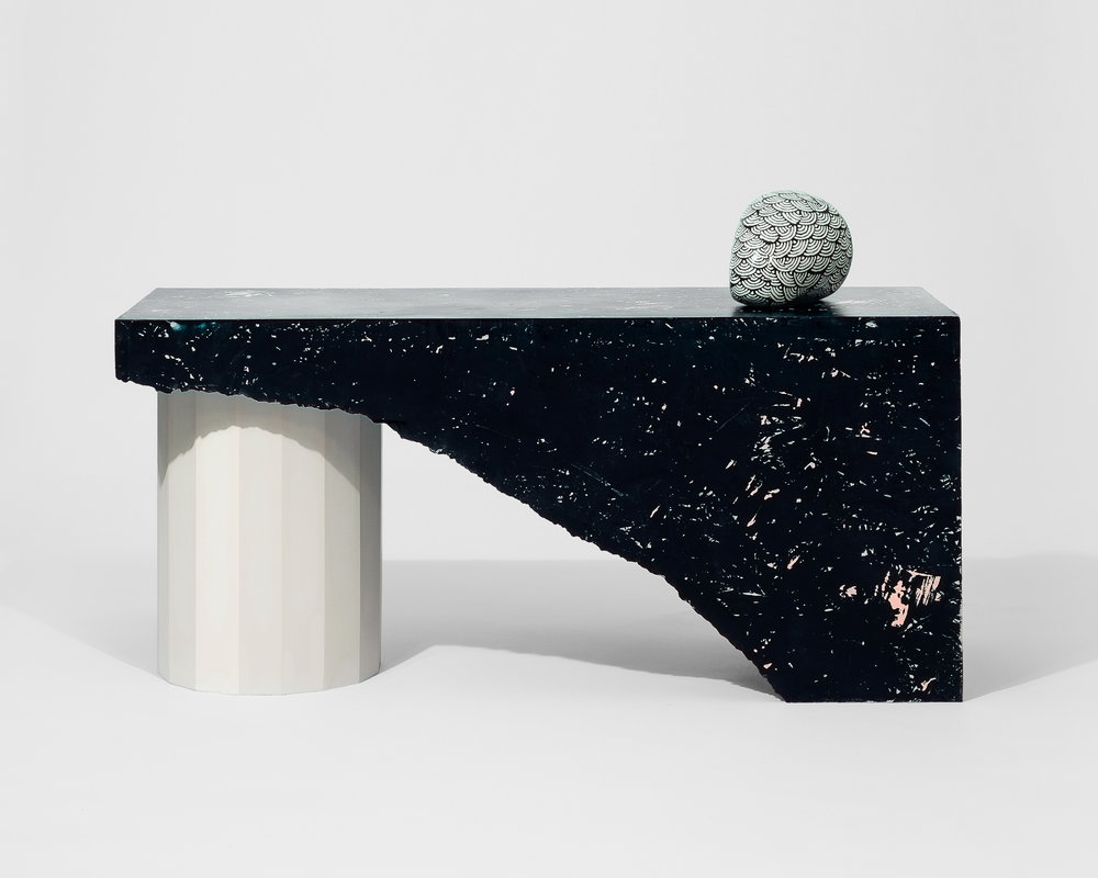 Black hollow occasional table by Kristian Andréason and Kristin Leibel