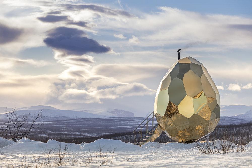 Riksbyggens Solaregg, Kiruna Credits:Jean-Baptiste Bélange