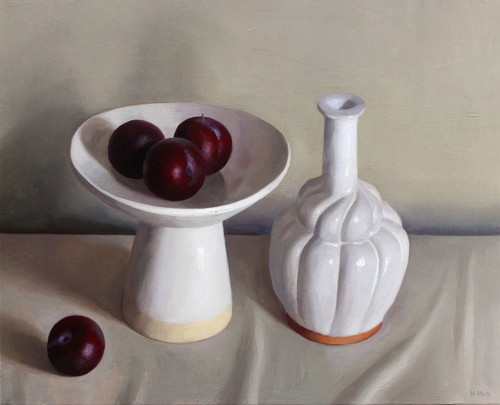 Still life (after Morandi)  Oil on canvas 50x40cm  2018  Private collection