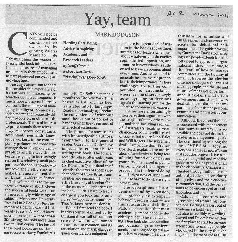 """Yay, team"" 04/2011"