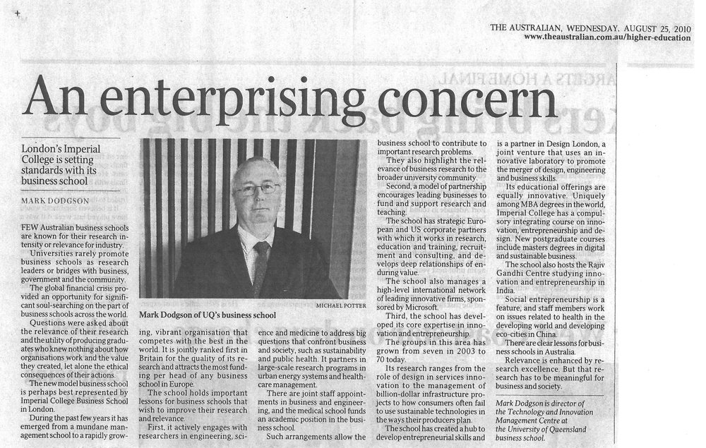 """An enterprising concern"" 25/08/2012"