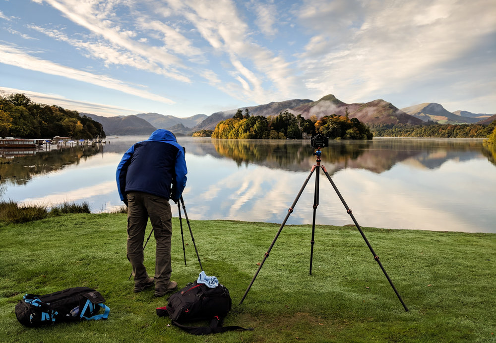 James capturing some stunning early morning conditions at Derwentwater on his 1-to-1 tuition day