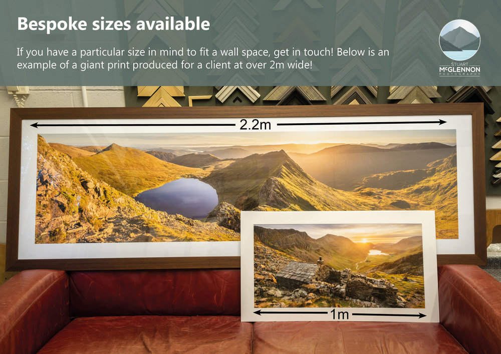 Bespoke 2.2m wide print of  'Striding Edge'  for client in Yorkshire