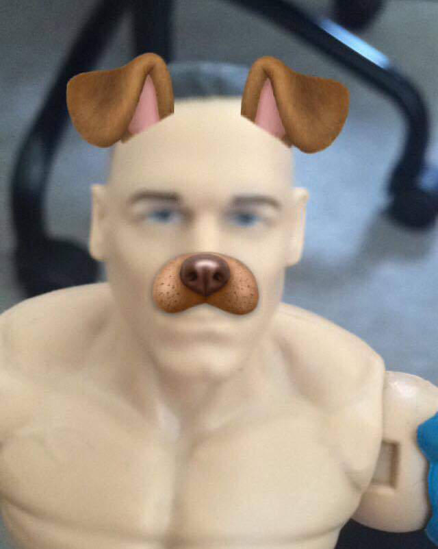 Snapchat + John Cena figure = Endless fun  #how2johncena