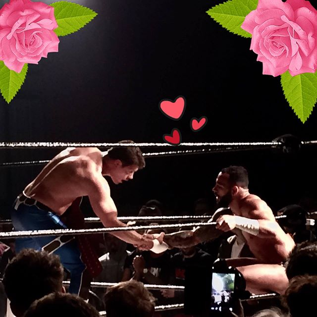Jo look some pictures of Cody Rhodes wrestling Ricochet  They are lovely boys