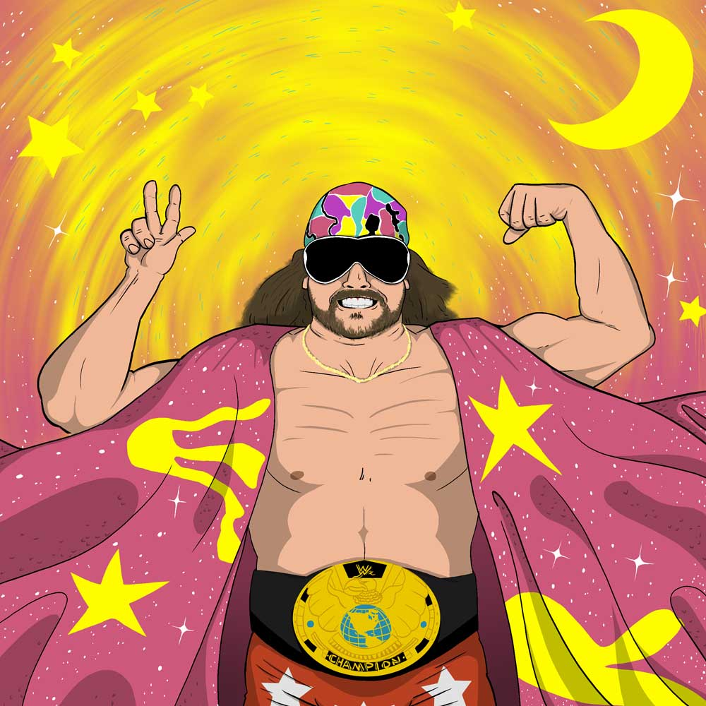 Macho Man Randy Savage Pro wrestler episode artwork How2Wrestling