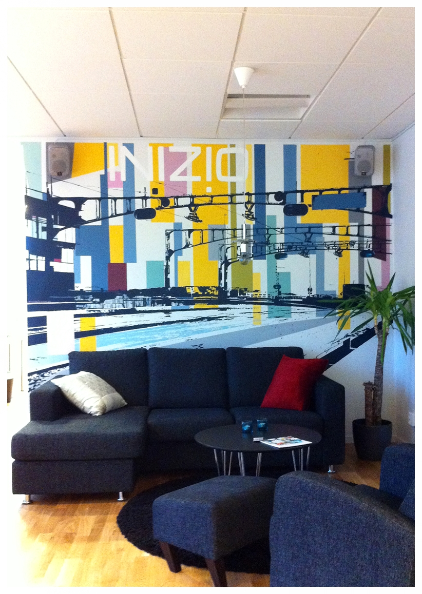Wall Painting at Inizio AB Head Office in Gothenburg 2012