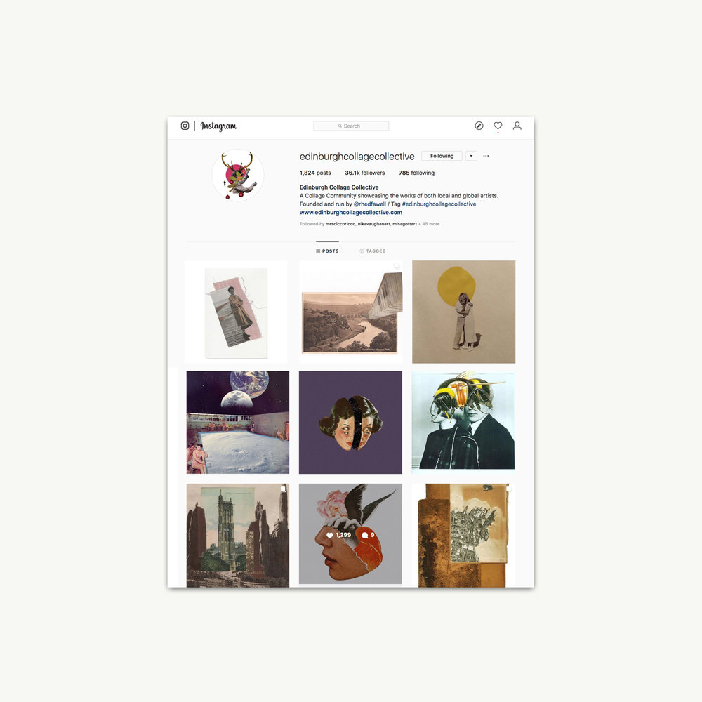 """Edinburgh Collage Collective   Instagram post """"TODAY IS INTERNATIONAL…"""" March 8, 2019"""