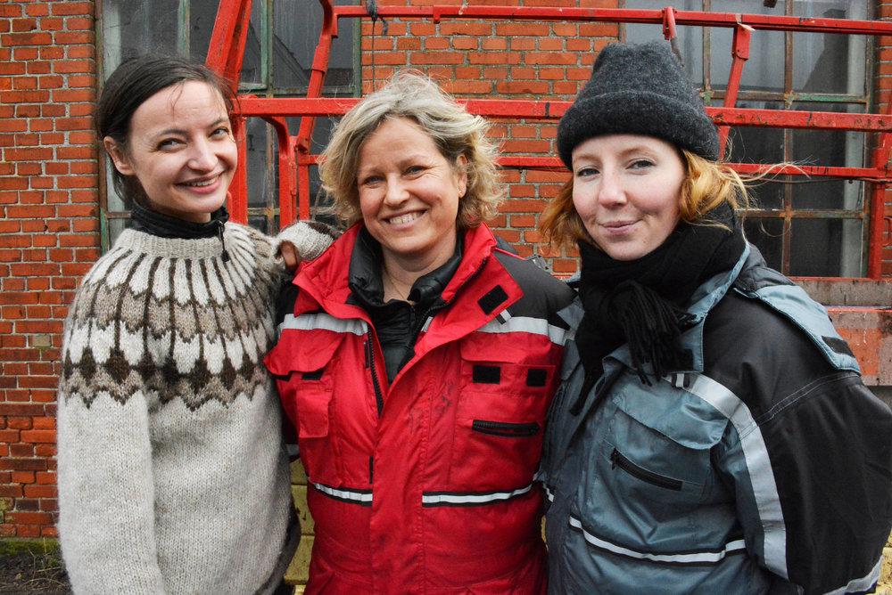 Nina Rydahl Andersen, Lone Søndergaard og Julie Skaar. (Foto: Andrea Bisgaard)
