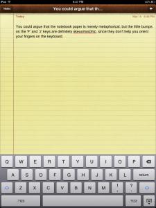 Skeuomorphic keyboard bumps on iPad