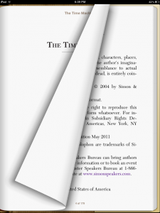 Skeuomorphic Page Flip in iBooks