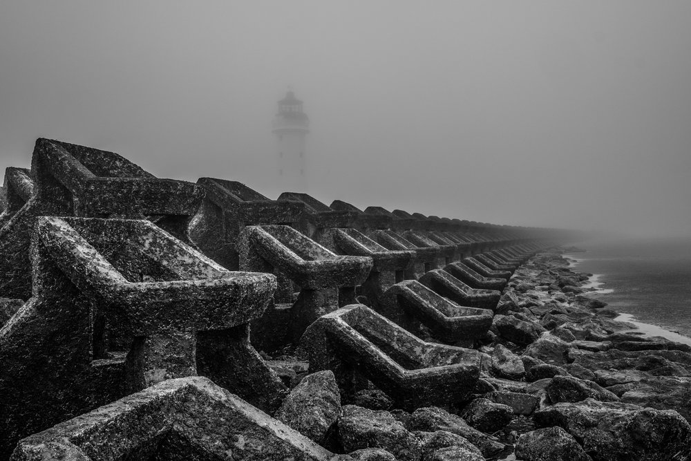Perch Rock Lighthouse in Fog