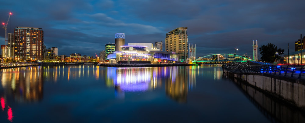 Salford Quays Blue Hour