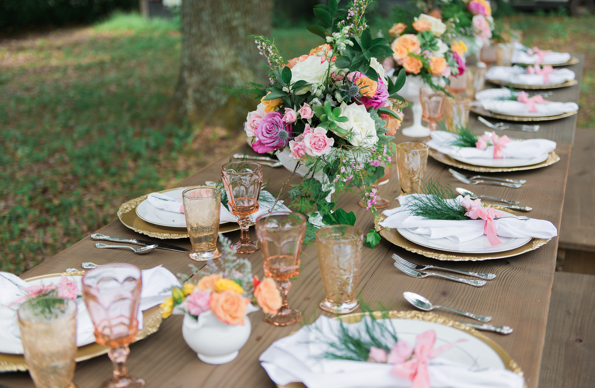 Tampa Florida Wedding Farm Table Rentals
