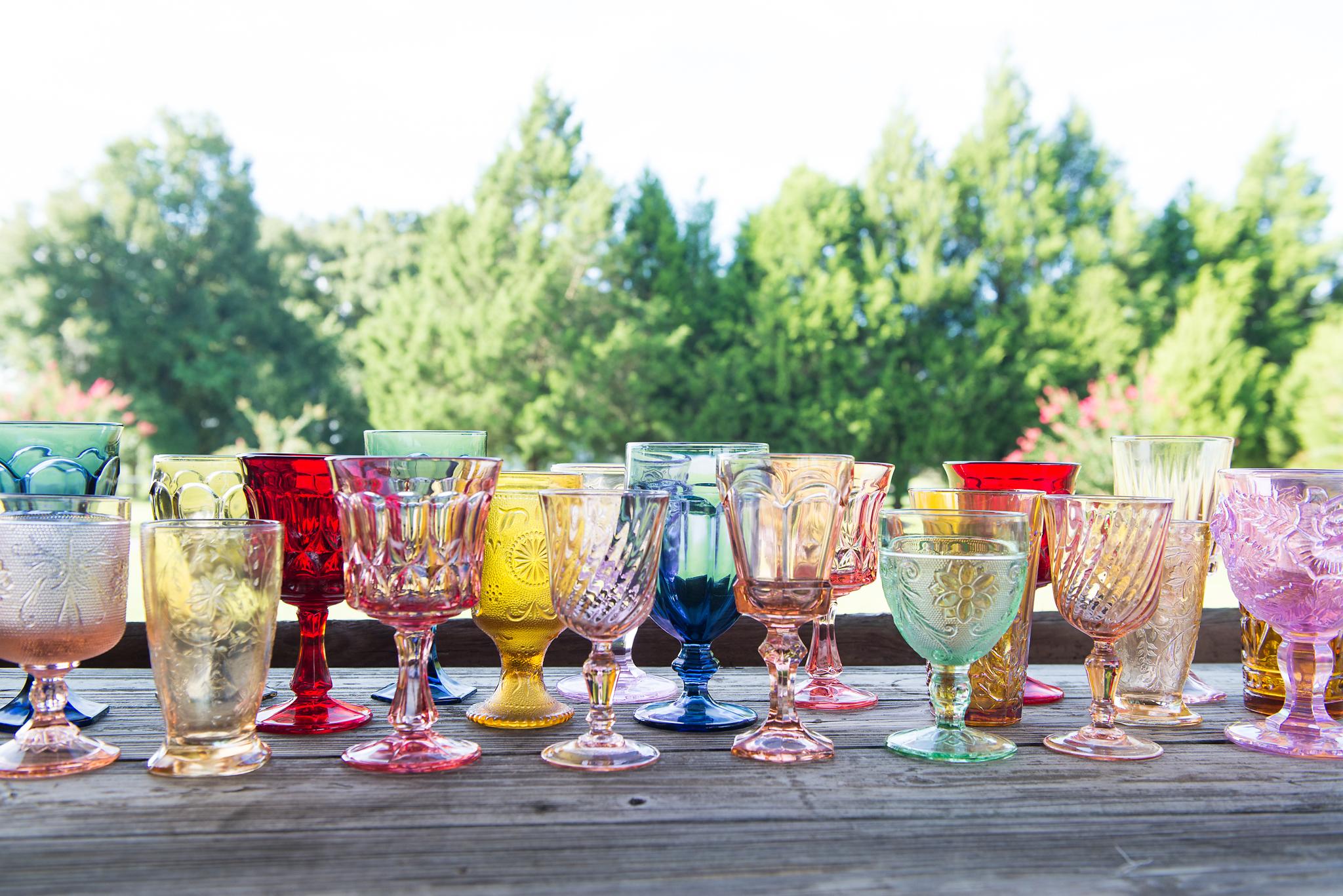 Vintage Glassware Rentals Tampa Florida