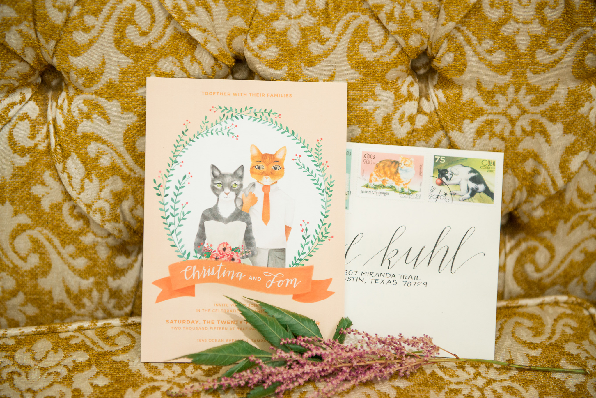 Cat Themed Invitations