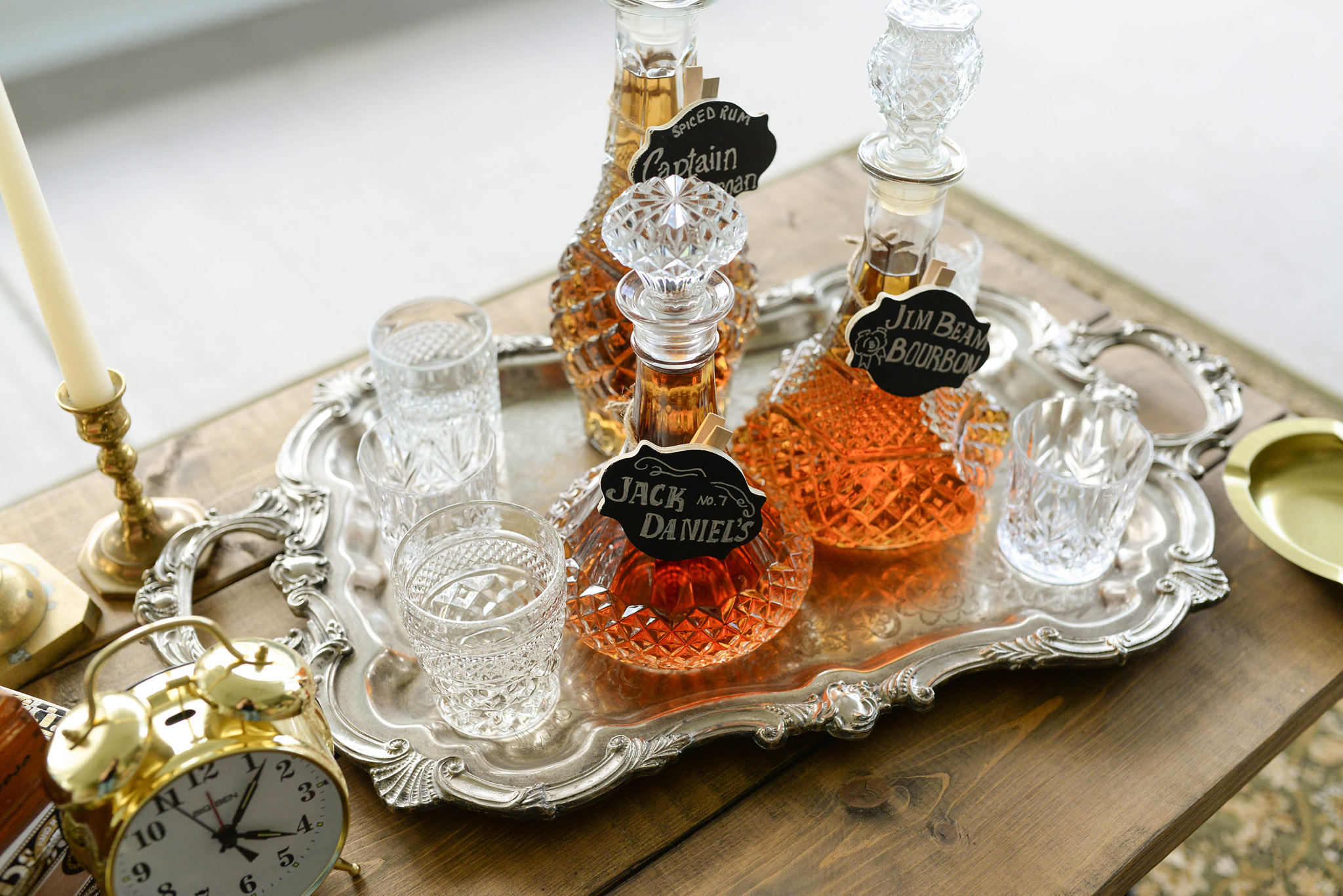 Wedding Bourbon Display