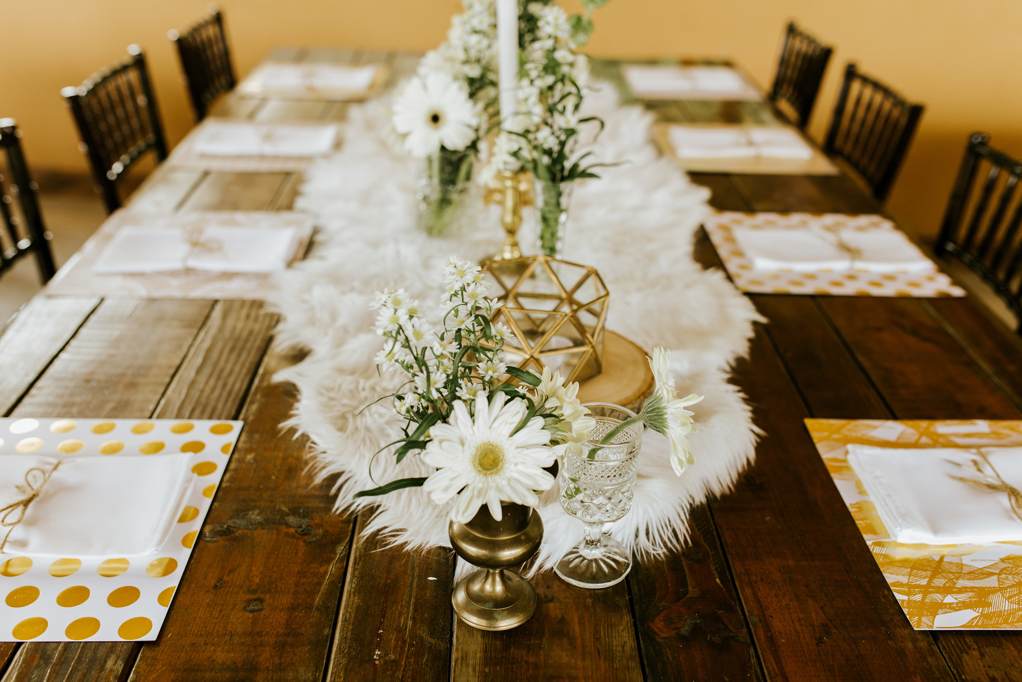 Boho Fur Table Runner