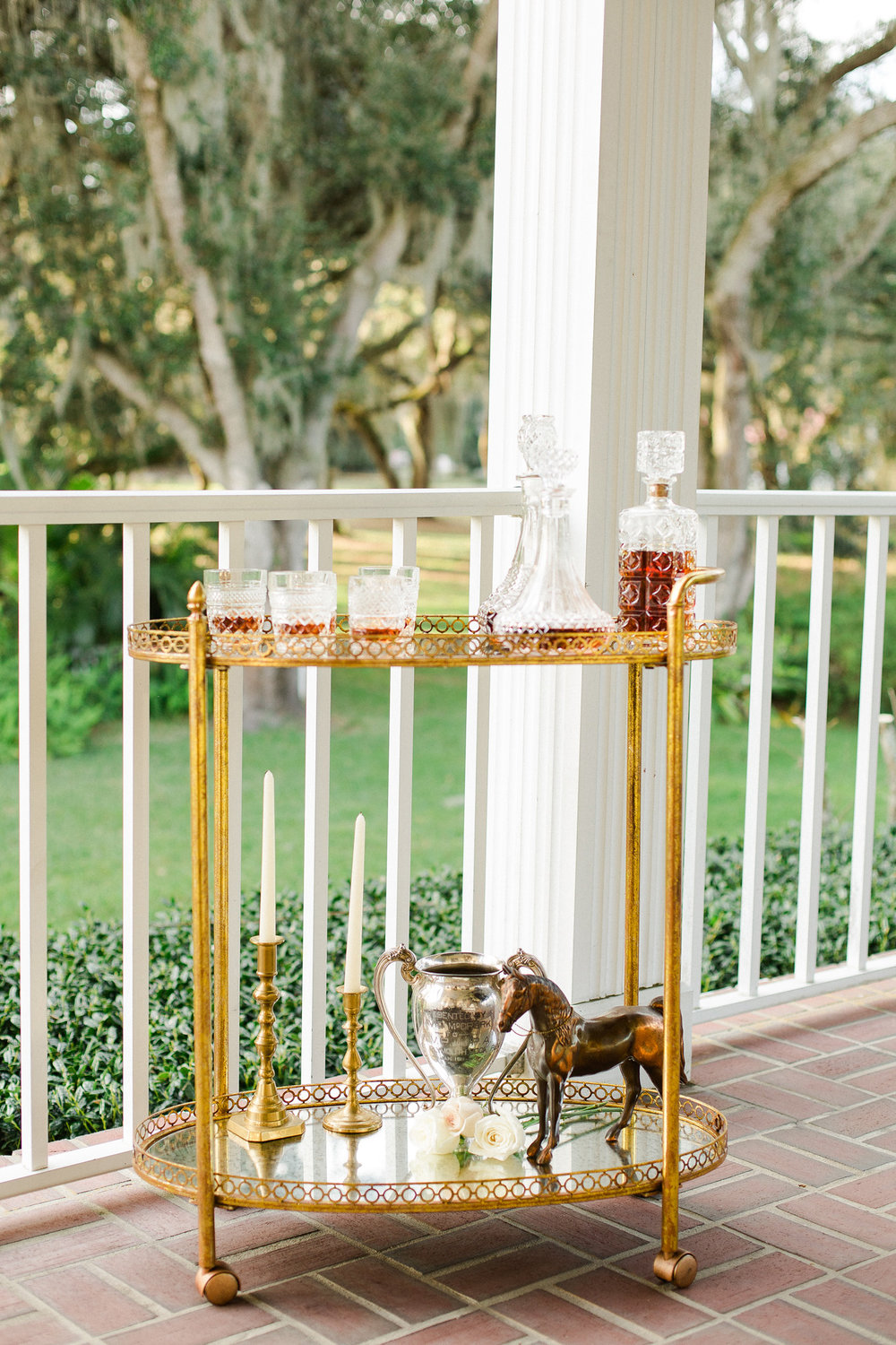 Derby Inspired Wedding Bourbon Bar