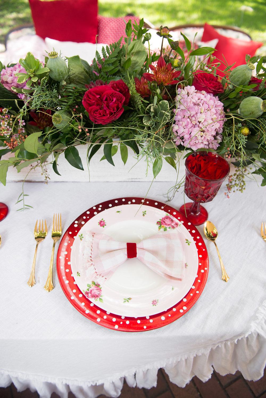 Polka Dot Wedding Table Decor