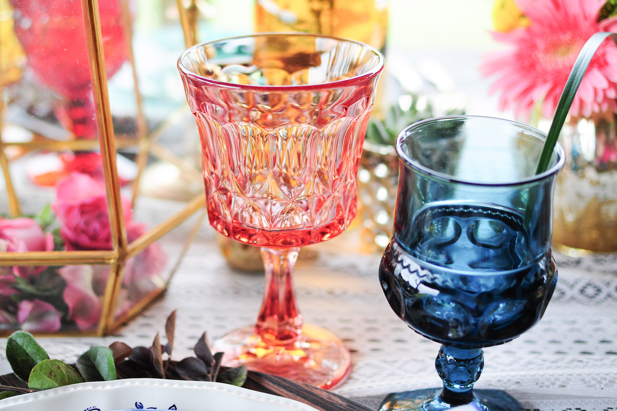Vintage Colored Glass Rentals Tampa