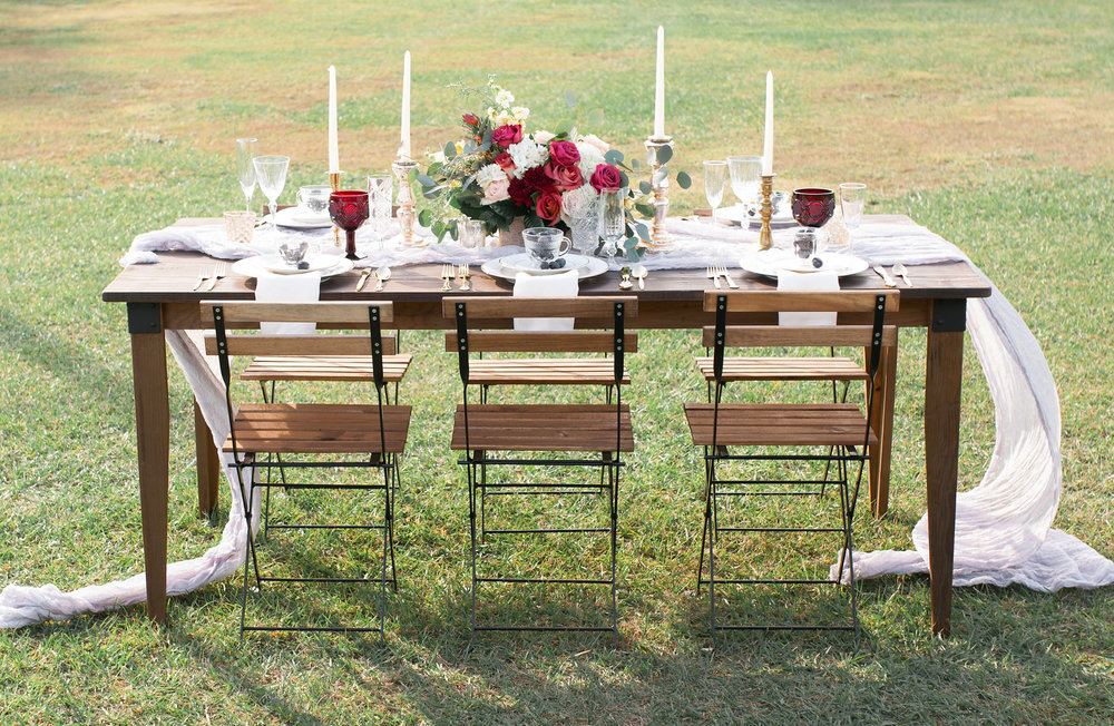 Orlando Tampa Lakeland Farm Table Rentals