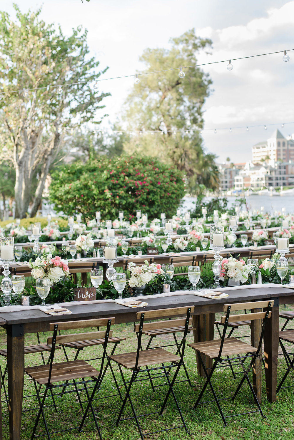tampa farm table rentals - Davis Island Garden Club