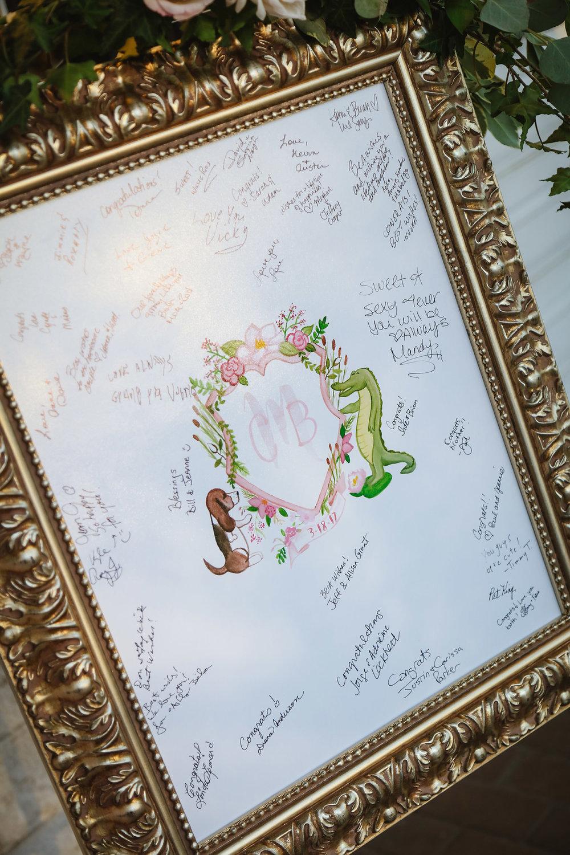 Wedding Crest Guestbook